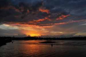 Port Macquarie river sunset 1 by wildplaces