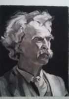 Mark Twain by gh0stfram3