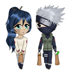 AT - Chibi Kakashi and Uki by Honoka--chan
