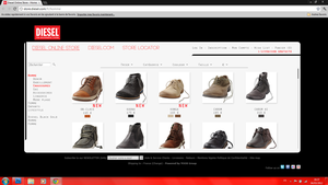WebDesign - Diesel.com by ROH2X