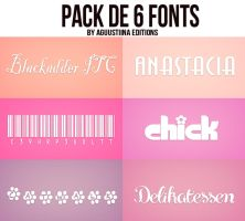 Pack de fonts #04 by AguustiinaEditions