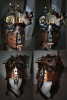 Steampunk Seeker Mask Cosplay by pinochioO-5