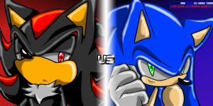 Shadow_VS_Sonic by CarmenSegado