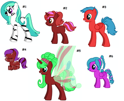 FREE MLP Adoptables CLOSED by deathbyrobotunicorns