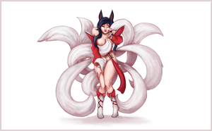Ahri by SuperKusoKao
