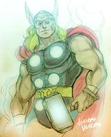 Classic Thor sketch by LucianoVecchio