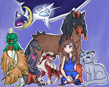 ::REQUEST:: Pokemon Moon Team by iiDrBubbles