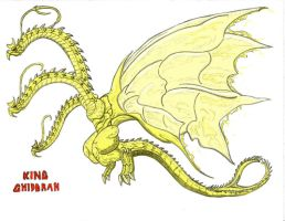 King Ghidorah by Kaijudude