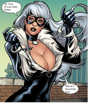 Why Do I Have Boobs?: Spider-Man to Black Cat TG by HassouTobi27