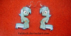 Sitting Lyra Handmade Earrings by FailDuck