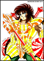 DOHKO DE LIBRA-SAINT SEIYA (MARKER-COLOR) by MUERTITO69