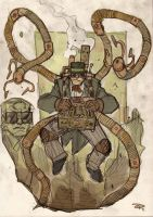Doctor Octopus Steampunk Re-Design by DenisM79