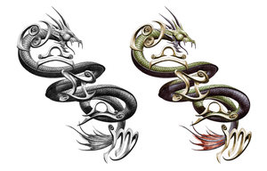 serpent  tattoo by xjager513