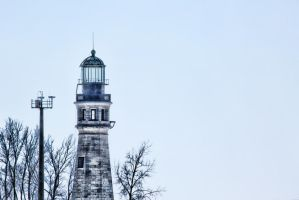 Buffalo Harbor Lighthouse in Winter by TomFawls