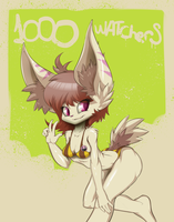 1000 Watchers! by Azzy-Cola