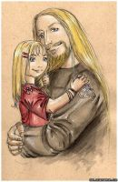 Greg with His Daughter Color by Nelhemyah