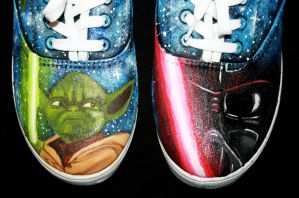 Star Wars themed shoes 4 by LovelyAngie