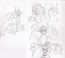 Razors Dragons (sketch) by QueenTurchese94