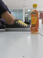 Shoes and Bottle by Alaudina13