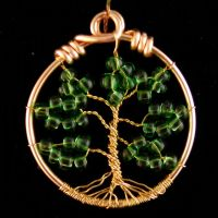 Green Gold Tree of Life by JanecShannon