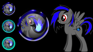 Dark Vibrancy icon orb and start orb by MrAlienBrony