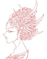 Wing Headdress -Lines- by bakero-ichiban