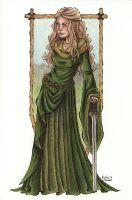 Eowyn in Green by TinyQ