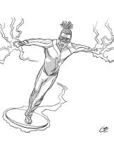 Static Shock black and white by tiguybou