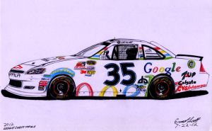 2012 Google Chevy Stock Car by ImfamousE