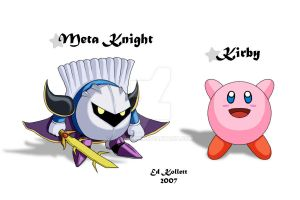 Kirby and Meta Knight - SSBB by Seterace