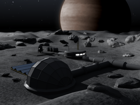 Alone in a moonbase by fireframe