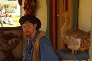 Faire: Man with Goose by PatGoltz