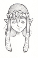 Zelda headshot by CrystalGJMZL