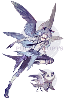 [CLOSED] adopts auction - Gray Owl (AB added) by Polis-adopts