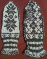 Wool Norwegian Mittens Type 2 by AmoreVitaTempo