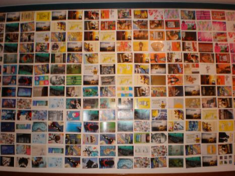 Epic Postcard Wall by ali-in-a-bubble