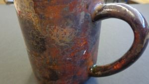 Distressed Copper Coffee Mug - Detail by scottica