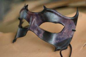 Black and Purple Leather Mask by OsborneArts