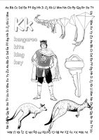 alphabet coloring pages Kk copy by jbeverlygreene