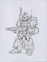 Another Mech Sketch by archaznable30