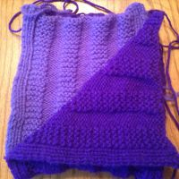 Purple vertical stripes scarf by songsforever