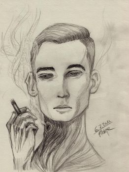 The smoking man by Mellicookie
