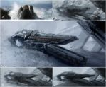 Frozen ship by leventep