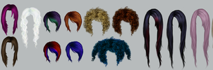 Hair pieces by RomanticFae