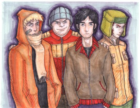 Boys from South Park by doodoostew