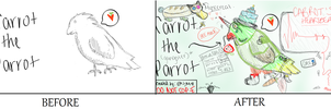 Carrot the (gangster) Parrot by Madisooooooooooooon