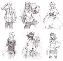 Sketch Commissions by cho-zero