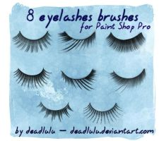 8 Eyelashes Brushes - for PsP by DeadLulu