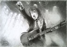 Angus Young by Toxinman