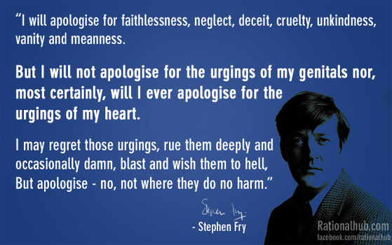 Epic quote by Stephen fry... by rationalhub